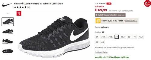 Nike »Air Zoom Vomero 11 Wmns« Laufschuh 38 - jetzt 50% billiger