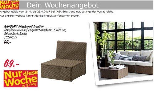 ARHOLMA Sitzelement 1/außen, braun, 65x76 cm, 66 cm hoch. - jetzt 30% billiger