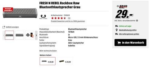 Fresh 'n Rebel Rockbox RAW Bluetooth Lautsprecher - jetzt 52% billiger