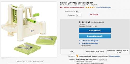 LURCH 10203 Spiralschneider - jetzt 16% billiger