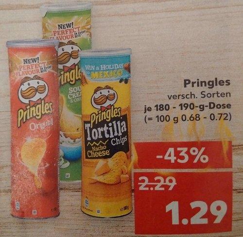 Pringles versch. Sorten, je 180-190g Dose - jetzt 44% billiger