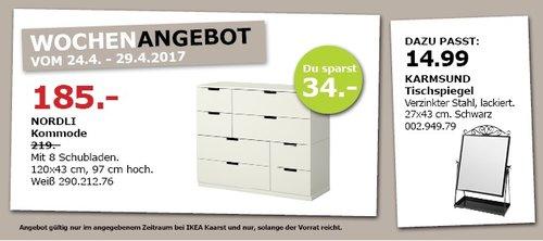 IKEA NORDLI Kommode mit 8 Schubladen, 120x43 cm, 97 cm hoch - jetzt 16% billiger