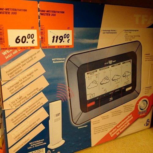 Wetterstation Twister 300 TFA mit Wetterwarnanzeige des DWD - jetzt 50% billiger