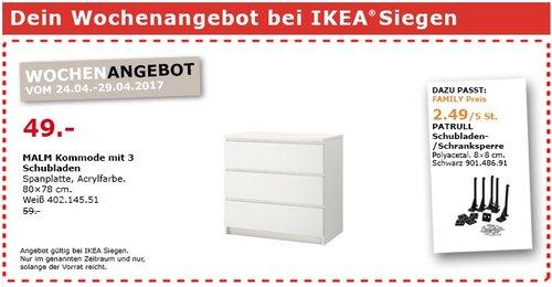 IKEA MALM Kommode mit 3 Schubladen, 80x78 cm, weiß - jetzt 17% billiger
