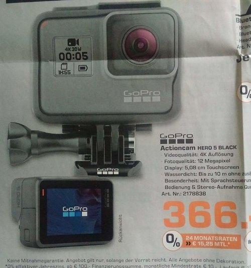 GoPro HERO5 Black Action Kamera (12 Megapixel) - jetzt 15% billiger