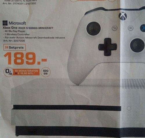 Xbox One S 500GB Konsole - Minecraft Bundle - jetzt 31% billiger