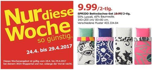 IKEA SPRIDD Bettwäscheset, 2-teilig, 140x200 cm, 80x80 cm, versch. Muster - jetzt 50% billiger