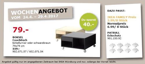 IKEA BOKSEL Couchtisch 79x79 cm, birkefurnier oder schwarzbraun - jetzt 34% billiger