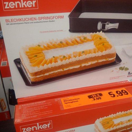 Zenker  Blechkuchen - Springform - jetzt 25% billiger