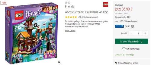 LEGO Friends 41122 - Abenteuercamp Baumhaus - jetzt 49% billiger