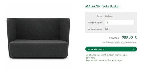 Softline Basket Sofa - jetzt 27% billiger
