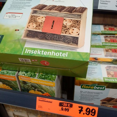 Insektenhotel - jetzt 20% billiger