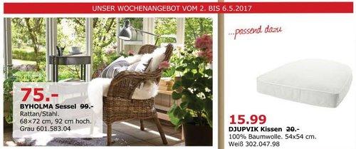 IKEA BYHOLMA Sessel Rattan/Stahl, 68x72 cm, 92 cm hoch - jetzt 24% billiger
