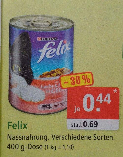 Felix Nassnahrung, versch. Sorten, 400 g-Dose - jetzt 36% billiger