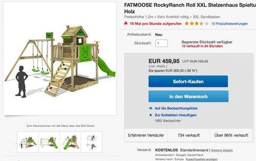 FATMOOSE Stelzenhaus RockyRanch Roll XXL Spielturm - jetzt 39% billiger