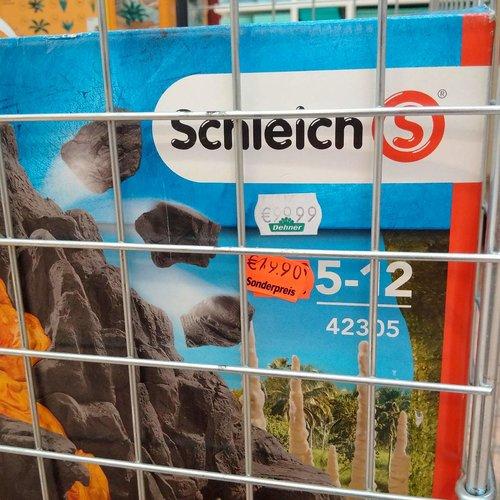 Schleich 42305 - Riesenvulkan mit T Rex, mehrfarbig - jetzt 80% billiger