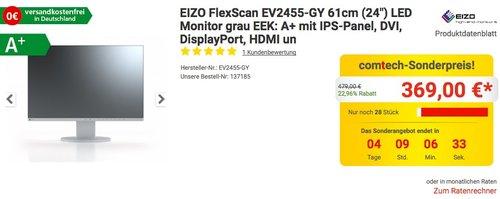 "EIZO Monitor FlexScan EV2455-GY 61cm (24"") - jetzt 23% billiger"