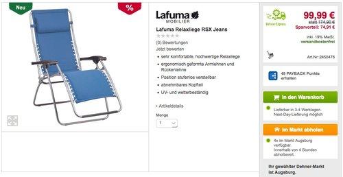Lafuma Relaxliege RSX - jetzt 43% billiger