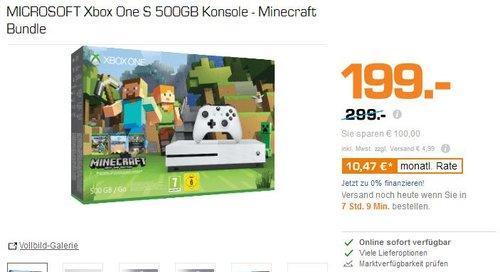 MICROSOFT Xbox One S 500GB Konsole - Minecraft Bundle - jetzt 33% billiger