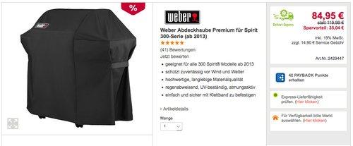 Weber Abdeckhaube Premium für Spirit 300-Serie (ab 2013) - jetzt 29% billiger