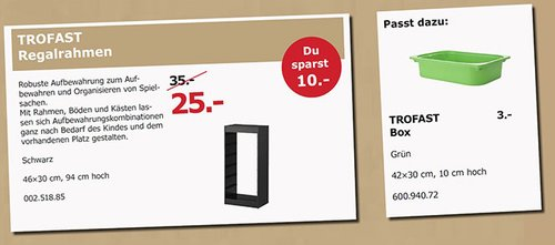 IKEA TROFAST Regalrahmen - jetzt 29% billiger