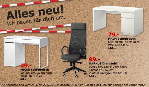 IKEA MALM Schreibtisch - jetzt 28% billiger