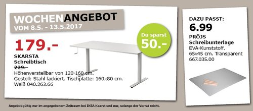 IKEA SKARSTA Schreibtisch - jetzt 22% billiger