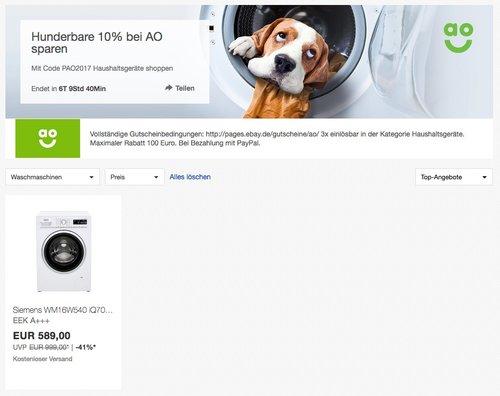 Siemens WM16W540 iQ700 Waschmaschine - jetzt 10% billiger