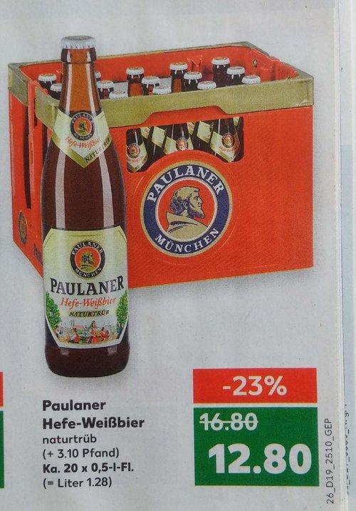 Paulaner Hefe-Weißbier, naturtrüb, Ka. 20 x 0,5 -L-Fl. - jetzt 24% billiger