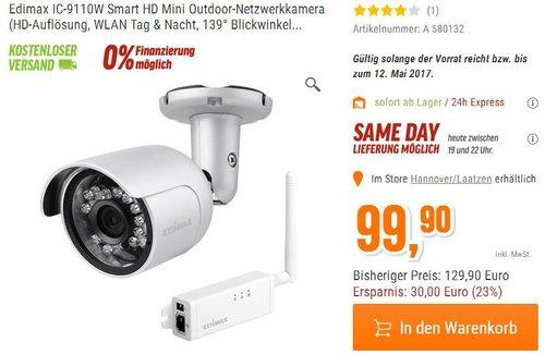 Edimax IC-9110W Smart HD Mini Outdoor-Netzwerkkamera - jetzt 23% billiger