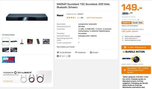 MAGNAT Sounddeck 150, Heimkino-Sounddeck mit integriertem Subwoofer, Bluetooth - jetzt 32% billiger