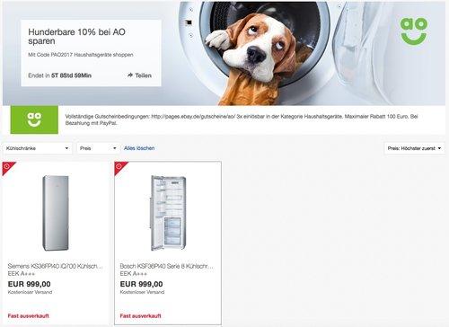 Siemens KS36FPI40 iQ700 Kühlschrank - jetzt 10% billiger