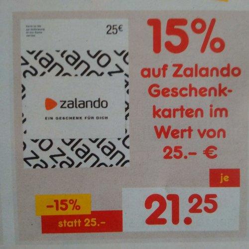 15 Prozent Rabatt auf Zalando Geschenkkarten im Wert von 25 Euro - jetzt 15% billiger