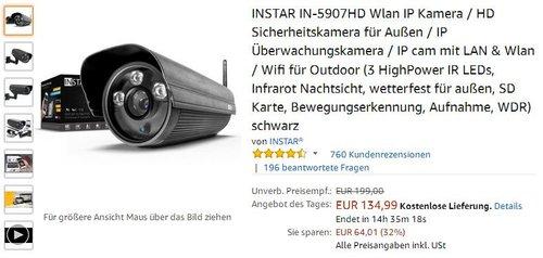 INSTAR IN-5907HD Wlan IP Kamera / HD Sicherheitskamera für Außen - jetzt 32% billiger