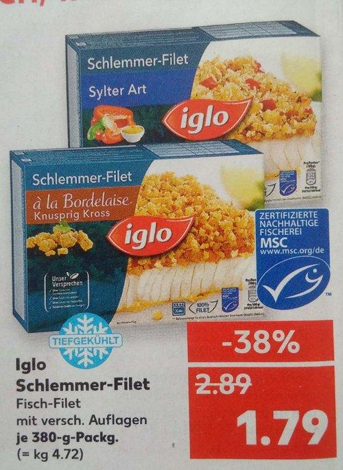 Iglo Schlemmer-Filet, versch. Sorten, je 380g - jetzt 38% billiger