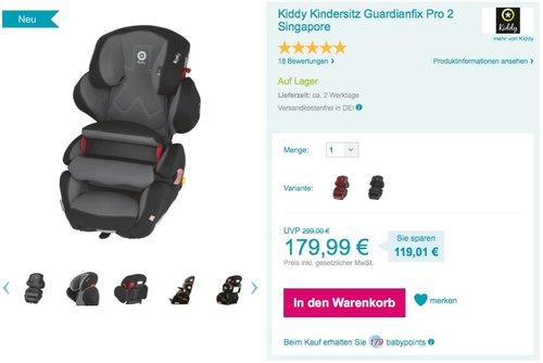 Kiddy Guardianfix Pro 2 Autositz - jetzt 40% billiger