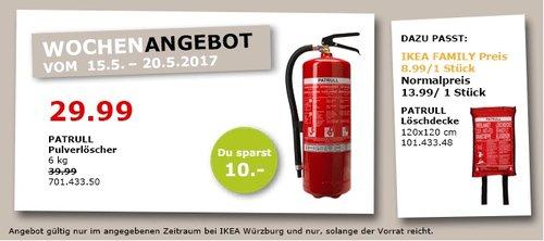 IKEA PATTRULL Pulverlöscher, 6 kg - jetzt 25% billiger