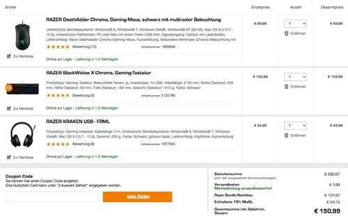 Razer Bundle- Aktion - jetzt 46% billiger