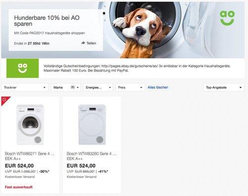 Bosch WTW86271 Wärmepumpentrockner - jetzt 10% billiger