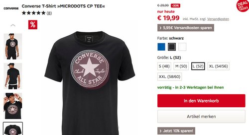 Converse T-Shirt »MICRODOTS CP TEE« - jetzt 33% billiger