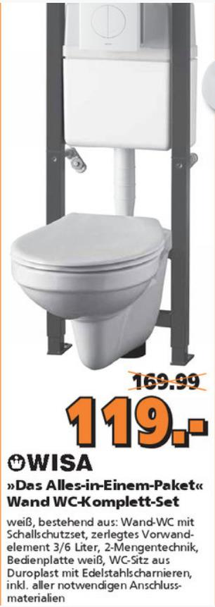 Wisa Vorwandelement WC-Komplett-Set All in One - jetzt 30% billiger