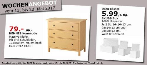 IKEA HEMNES Kommode mit 3 Schubladen, massive Kiefer, 108x50 cm, 96 cm hoch - jetzt 20% billiger