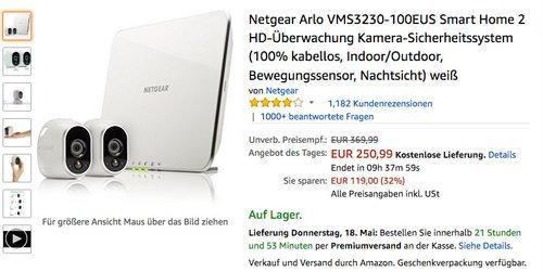 Netgear Arlo VMS3230-100EUS Smart Home 2 HD-Überwachung - jetzt 22% billiger