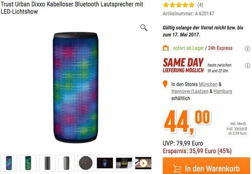 Trust Urban Dixxo beleuchteter Bluetooth Lautsprecher - jetzt 34% billiger