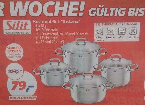 Silit Topf-Set 4-Teilig Toskana Edelstahl - jetzt 47% billiger