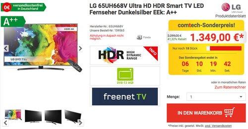 LG 65UH668V 164 cm (65 Zoll) LCD-Fernseher - jetzt 21% billiger