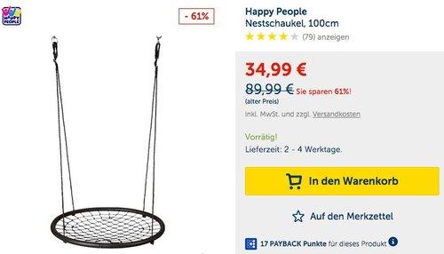 Happy People Nestschaukel, 100cm - jetzt 61% billiger