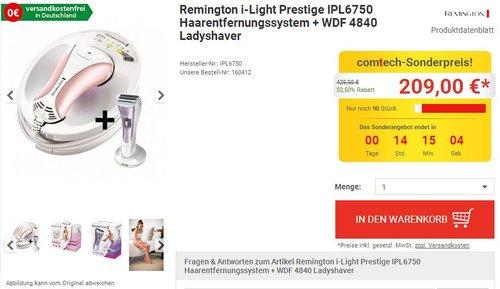 Remington i-Light Prestige IPL6750 - jetzt 10% billiger