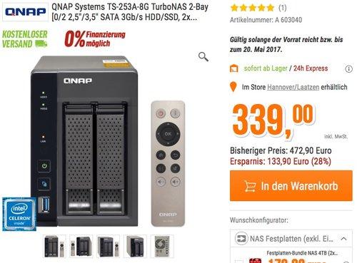 QNAP TS-253A-8G-NAS 2-Bay - jetzt 28% billiger