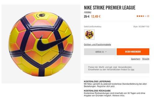 Nike Strike Premier League Fussball - jetzt 50% billiger
